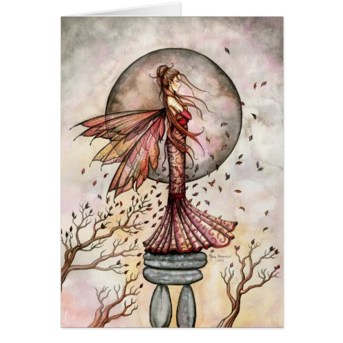 Autumn Fairy Ruby in the Wind Card