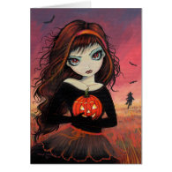 Autumn Fire Halloween Greeting Card