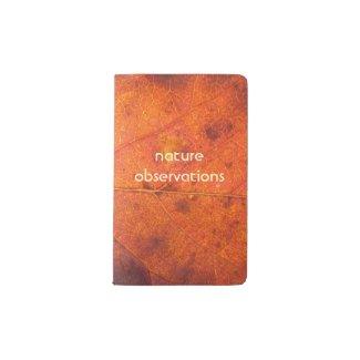 Autumn Leaf   Water Resistant Pocket Notebook
