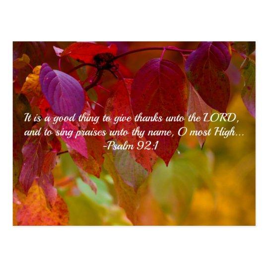 Autumn Leaves Christian Bible Verse Psalms Postcard Zazzle