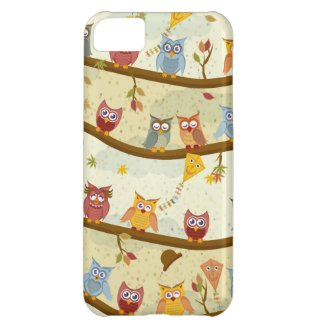 autumn owls cover for iPhone 5C
