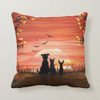 Autumn Sunset Pillow