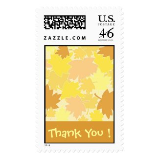 Autumn Thank You ! - Postage