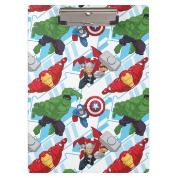 Avengers Character Action Kids Pattern Clipboard