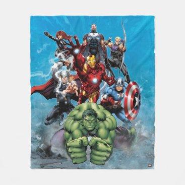 Avengers Classics | Hulk Leading Avengers Fleece Blanket