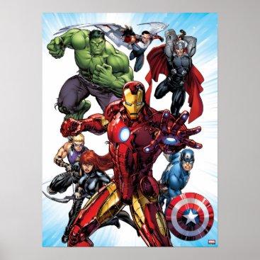 Avengers Classics | Iron Man Leading Avengers Poster
