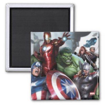 Avengers Classics | Poised For Battle Drawing Magnet