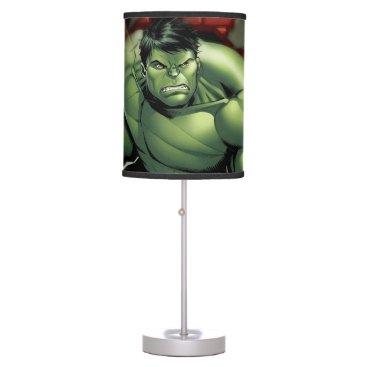 Avengers Hulk Smashing Through Bricks Desk Lamp