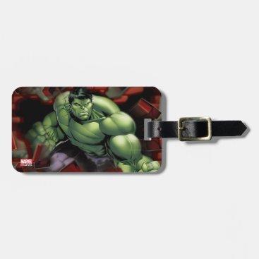 Avengers Hulk Smashing Through Bricks Luggage Tag