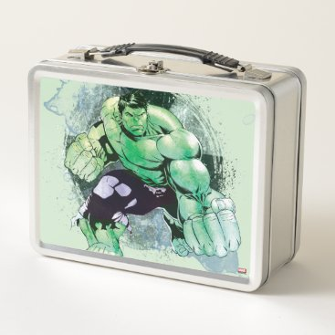 Avengers Hulk Watercolor Graphic Metal Lunch Box