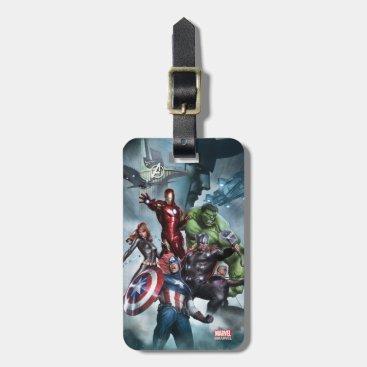 Avengers Versus Loki Drawing Bag Tag