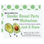 Avocado Couple Gender Reveal Party Invitation
