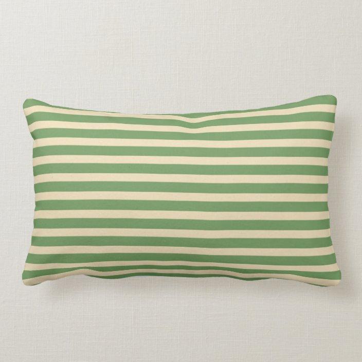 avocado green cream stripe indoor lumbar pillow zazzle com