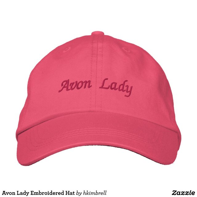 Avon Lady Embroidered Hat