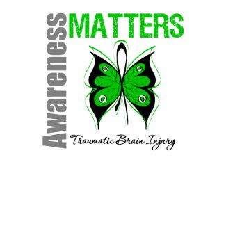 Awareness Matters Butterfly Traumatic Brain Injury shirt