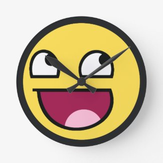 awesome face Wall Clock