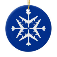 B-52 Aircraft Snowflake Christmas Ornament
