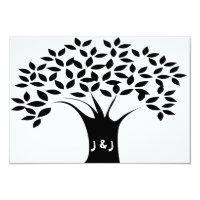 B&W Tree Wedding Invitations