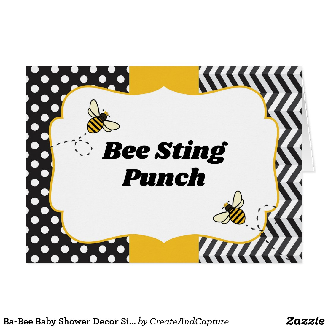 Ba-Bee Baby Shower Decor Signs