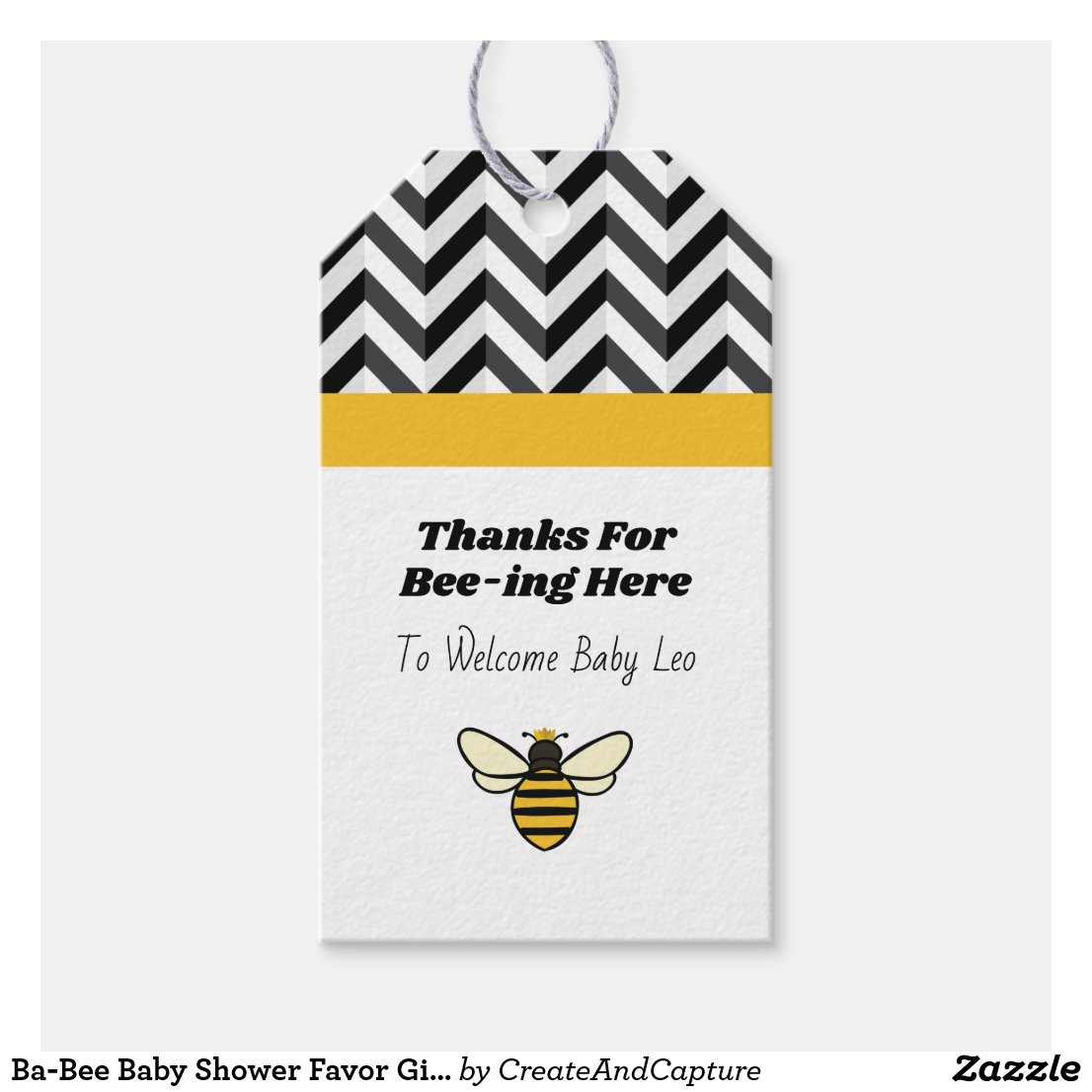 Ba-Bee Baby Shower Favor Gift Tags