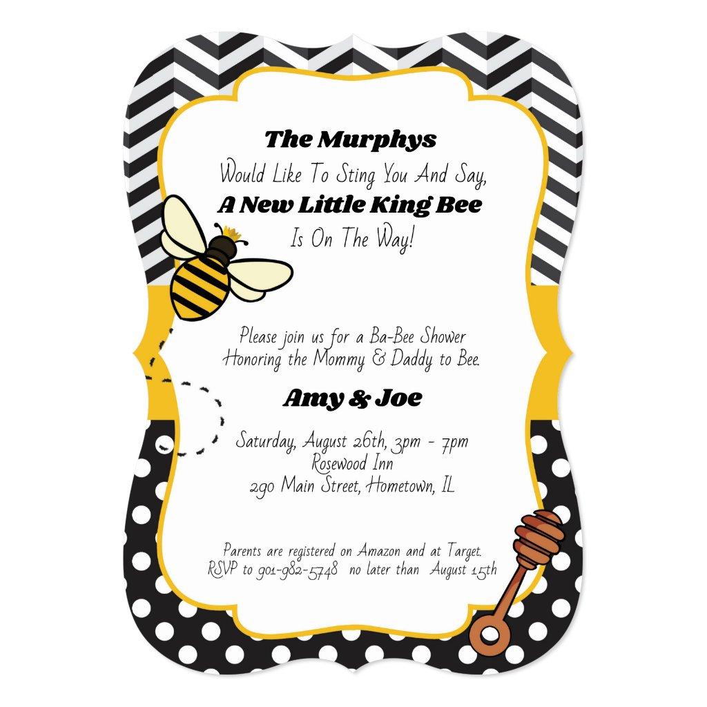 Ba-Bee Baby Shower Invitation | King/Queen Bee