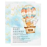 Baby Animals Hot Air Balloon Ride Baby Shower Invitation