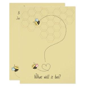 Bee Gender Reveal Invitations Zazzle