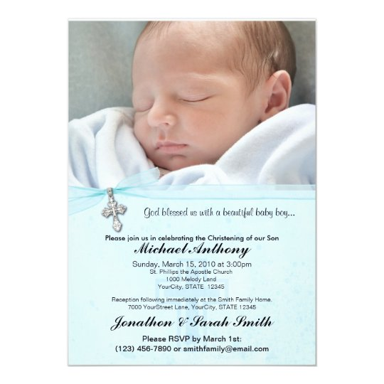 Unique Christening Invitation Baby Boy
