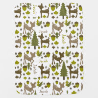 Baby Boy Deer Personalized Baby Blanket