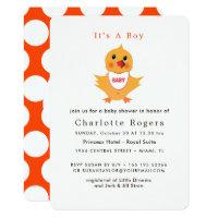 Baby Chicken Yellow Chick Cute Baby Shower Card