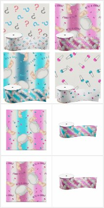 Baby Diaper Butts Fabric Collection