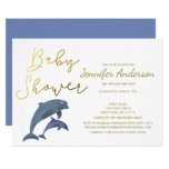 Baby Dolphin Boy or Girl Baby Shower Invitation