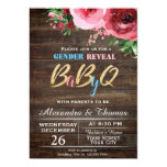 Baby Gender Reveal Baby Shower Invitation Floral