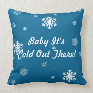 Baby Its Cold Out There, Vintage Snowflakes Custom Pillows