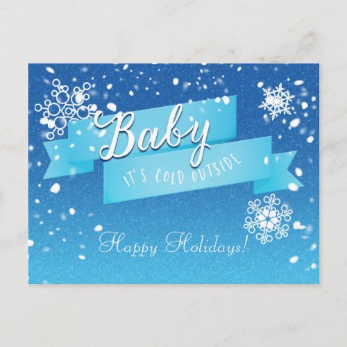 Baby it's Cold Outside Holiday Winter Postcard