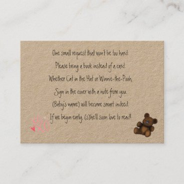 Baby Shower Book Request Business Card