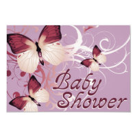 baby shower : butterflies card