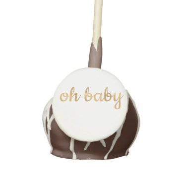 Baby Shower Cake Topper Gold Oh Baby Cake Pops