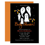 Baby Shower Halloween Party Ghosts & Candy Corn Invitation