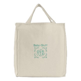 Baby Stuff - Embroidered Bag (Green)