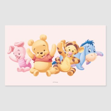 Baby Winnie the Pooh & Friends Rectangular Sticker