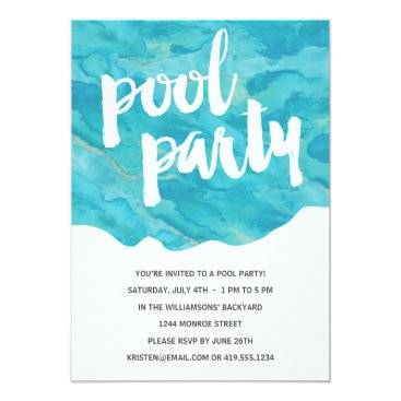 Backyard Splash | Pool Party Card