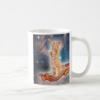 Bacon Surfing Cat in the Universe Coffee Mug