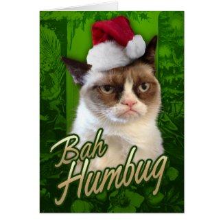 Bah Humbug Grumpy Cat Greeting Cards