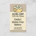 Bakery Discount Coupon Loyalty Referral Vertical Business Card