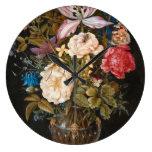 Balthasar Van Der Ast - Still-Life With Flowers. Large Clock