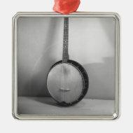 Banjo B&W Ornament