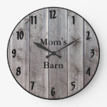 Barnwood Styled Personalized Rustic Looking Large Clock