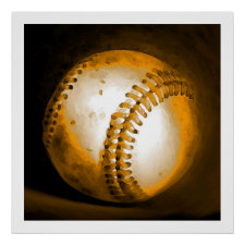 Baseball Artwork Poster Print US Sports Posters