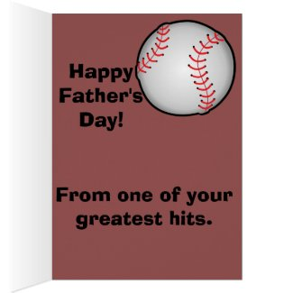 Baseball Dad Father's Day Card